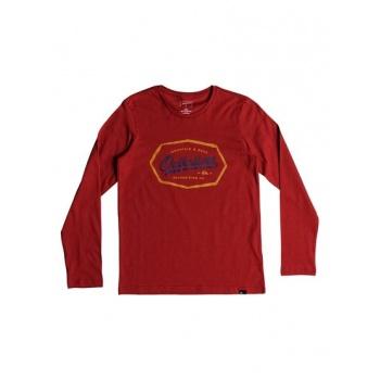 Quiksilver QUIKSILVER LIVING ON THE EDGE-LONG SLEEVE T-SHIRT FOR BOYS 8-16-RED