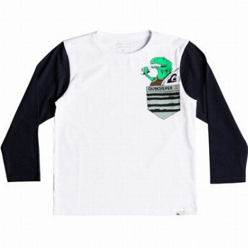 Quiksilver QUIKSILVER LOS AMIGOS-LONG SLEEVE T-SHIRT FOR BOYS 2-7-WHITE
