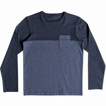 Quiksilver QUIKSILVER LYA BASE-LONG SLEEVE T-SHIRT FOR BOYS 8-16-BLUE
