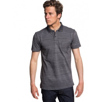 Quiksilver QUIKSILVER MICHI POINT-SHORT SLEEVE POLO SHIRT FOR MEN-BLACK