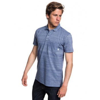 Quiksilver QUIKSILVER MICHI POINT-SHORT SLEEVE POLO SHIRT FOR MEN-BLUE