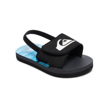 Quiksilver QUIKSILVER MOLOKAI LAYBACK SLIDE-SLIDER SANDALS FOR TODDLERS-BLACK