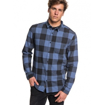 Quiksilver QUIKSILVER MOTHERFLY FLANNEL-LONG SLEEVE SHIRT FOR MEN-BLUE