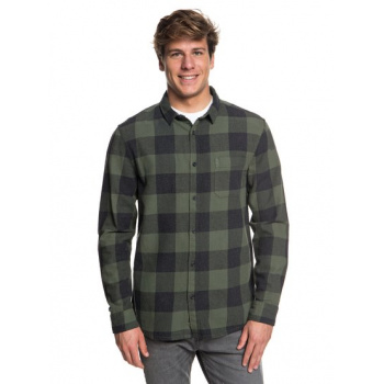 Quiksilver QUIKSILVER MOTHERFLY FLANNEL-LONG SLEEVE SHIRT FOR MEN-BROWN