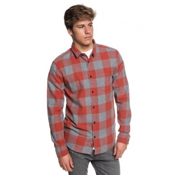Quiksilver QUIKSILVER MOTHERFLY FLANNEL-LONG SLEEVE SHIRT FOR MEN-RED