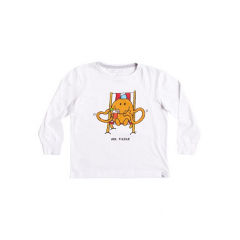 Quiksilver QUIKSILVER MR TICKLE-SUPER-SOFT LONG SLEEVE T-SHIRT FOR BOYS 2-7-WHITE