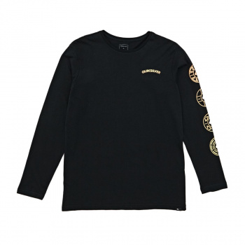 Quiksilver QUIKSILVER NEXT STEPS LONG SLEEVE T-SHIRT BLACK
