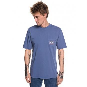 Quiksilver QUIKSILVER ORIGINALS CHECK POINT-POCKET T-SHIRT FOR MEN-BLUE