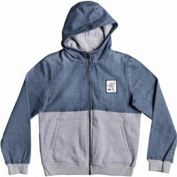 Quiksilver QUIKSILVER PARALLEX-HOODED JACKET FOR BOYS 8-16-BLUE