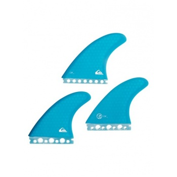 Quiksilver QUIKSILVER PRO HEX SINGLE TABS-SMALL THRUSTER SURF FINS FOR MEN-BLUE
