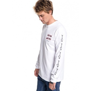 Quiksilver QUIKSILVER QUIK BONE-LONG SLEEVE T-SHIRT FOR MEN-WHITE