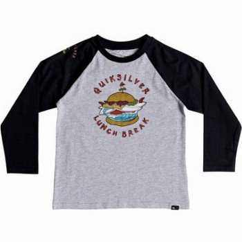 Quiksilver QUIKSILVER QUIK LUNCH-LONG SLEEVE T-SHIRT FOR BOYS 2-7-GREY