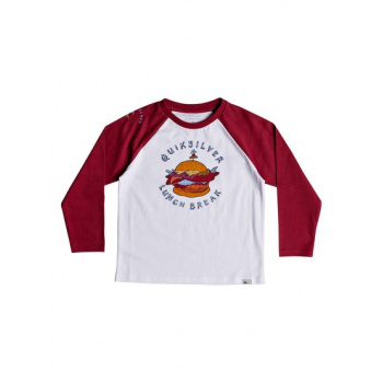 Quiksilver QUIKSILVER QUIK LUNCH-LONG SLEEVE T-SHIRT FOR BOYS 2-7-WHITE