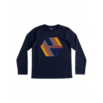 Quiksilver QUIKSILVER RETRO RIGHT-LONG SLEEVE T-SHIRT FOR BOYS 8-16-BLUE