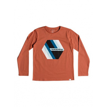 Quiksilver QUIKSILVER RETRO RIGHT-LONG SLEEVE T-SHIRT FOR BOYS 8-16-PINK