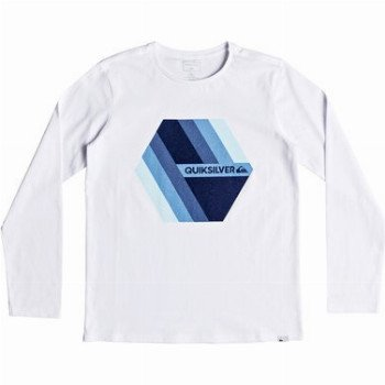 Quiksilver QUIKSILVER RETRO RIGHT-LONG SLEEVE T-SHIRT FOR BOYS 8-16-WHITE