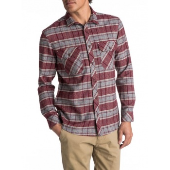 Quiksilver QUIKSILVER RIVER BACK FLANNEL-LONG SLEEVE SHIRT FOR MEN-RED