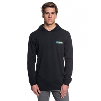 Quiksilver QUIKSILVER ROUGH RIGHT-LONG SLEEVE HOODED T-SHIRT FOR MEN-BLACK