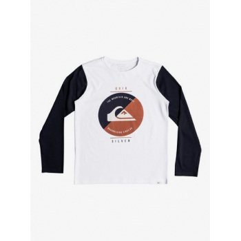 Quiksilver QUIKSILVER SHOOK UP-LONG SLEEVE T-SHIRT FOR BOYS 8-16-WHITE