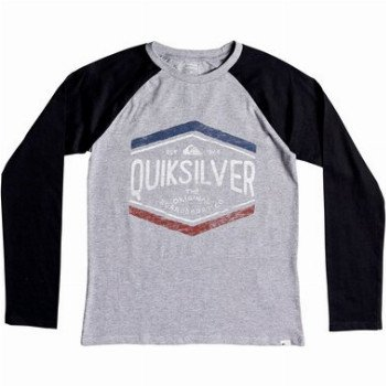 Quiksilver QUIKSILVER SKETCHY MEMBER-LONG SLEEVE T-SHIRT FOR BOYS 8-16-GREY