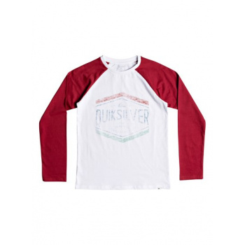 Quiksilver QUIKSILVER SKETCHY MEMBER-LONG SLEEVE T-SHIRT FOR BOYS 8-16-WHITE