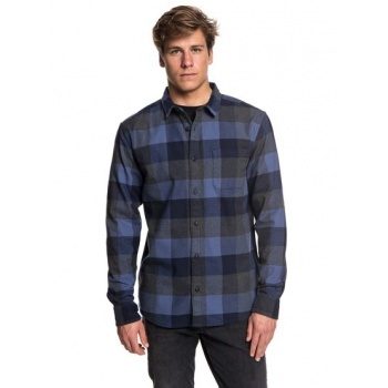 Quiksilver QUIKSILVER STRETCH FLANNEL-WATER-RESISTANT LONG SLEEVE SHIRT FOR MEN-BLUE