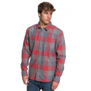 Quiksilver QUIKSILVER STRETCH FLANNEL-WATER-RESISTANT LONG SLEEVE SHIRT FOR MEN-PINK