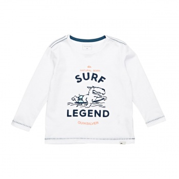 Quiksilver QUIKSILVER SURF LEGEND LONG SLEEVE T-SHIRT WHITE