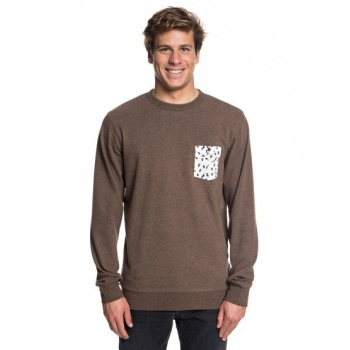 Quiksilver QUIKSILVER TAKAO MAN-SWEATSHIRT FOR MEN-BROWN