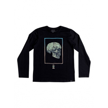 Quiksilver QUIKSILVER THE FACE-LONG SLEEVE T-SHIRT FOR BOYS 8-16-BLACK