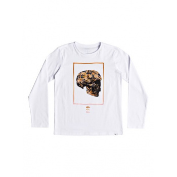 Quiksilver QUIKSILVER THE FACE-LONG SLEEVE T-SHIRT FOR BOYS 8-16-WHITE