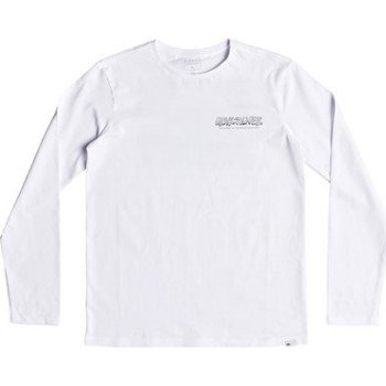 Quiksilver QUIKSILVER THE ORIGINAL M AND W-LONG SLEEVE T-SHIRT FOR BOYS 8-16-WHITE