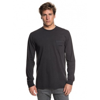 Quiksilver QUIKSILVER THE STITCH UP-LONG SLEEVE T-SHIRT FOR MEN-BLACK