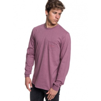 Quiksilver QUIKSILVER THE STITCH UP-LONG SLEEVE T-SHIRT FOR MEN-PINK