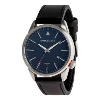 Quiksilver QUIKSILVER THE TIMEBOX 42 LEATHER-ANALOGUE WATCH FOR MEN-GREY