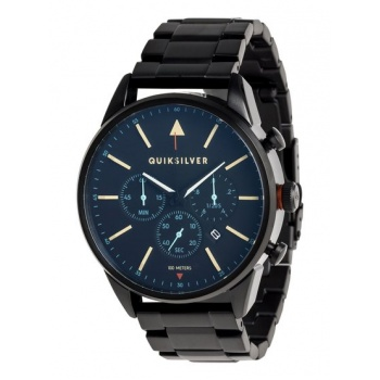 Quiksilver QUIKSILVER THE TIMEBOX CHRONO METAL-ANALOGUE WATCH FOR MEN-BLACK
