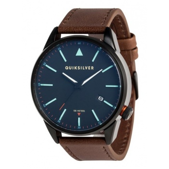 Quiksilver QUIKSILVER THE TIMEBOX LEATHER-ANALOGUE WATCH FOR MEN-BLACK