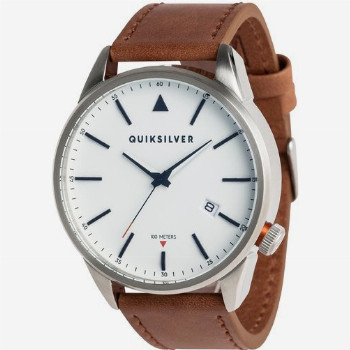 Quiksilver QUIKSILVER THE TIMEBOX LEATHER-ANALOGUE WATCH FOR MEN-GREY