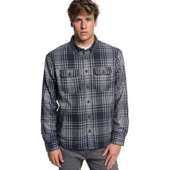 Quiksilver QUIKSILVER THE WAFFLE-LONG SLEEVE OVER SHIRT FOR MEN-BLUE