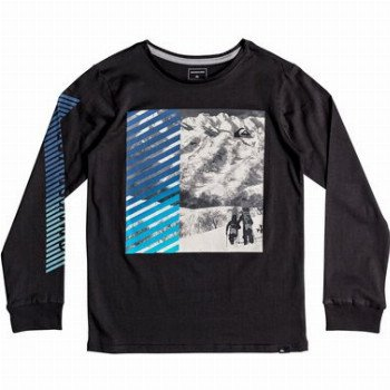 Quiksilver QUIKSILVER UNDER WATER-LONG SLEEVE T-SHIRT FOR BOYS 8-16-BLACK