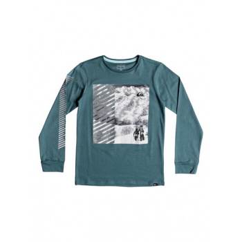 Quiksilver QUIKSILVER UNDER WATER-LONG SLEEVE T-SHIRT FOR BOYS 8-16-BLUE
