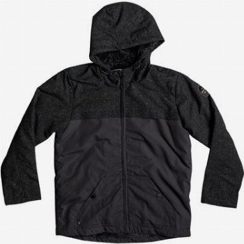 Quiksilver QUIKSILVER WANNA DWR-WATER-REPELLENT HOODED JACKET FOR BOYS 8-16-BLACK