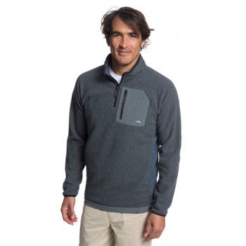 Quiksilver QUIKSILVER WATERMAN BIGGER BOAT-HALF-ZIP BONDED SWEATSHIRT FOR MEN-BLACK