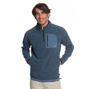 Quiksilver QUIKSILVER WATERMAN BIGGER BOAT-HALF-ZIP BONDED SWEATSHIRT FOR MEN-BLUE