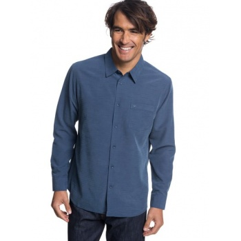 Quiksilver QUIKSILVER WATERMAN CENTINELA-TECHNICAL LONG SLEEVE SHIRT FOR MEN-BLUE