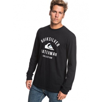Quiksilver QUIKSILVER WATERMAN ESTABLISHED-LONG SLEEVE T-SHIRT FOR MEN-BLACK