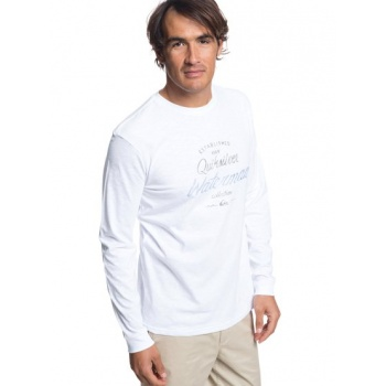 Quiksilver QUIKSILVER WATERMAN ESTABLISHED-LONG SLEEVE T-SHIRT FOR MEN-WHITE