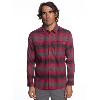 Quiksilver QUIKSILVER WATERMAN THERMO HYPER FLANNEL-TECHNICAL LONG SLEEVE SHIRT FOR MEN-RED