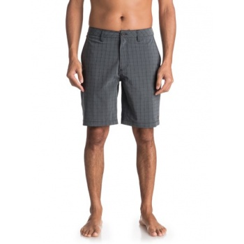Quiksilver QUIKSILVER WATERMAN VAGABOND PLAID-AMPHIBIAN BOARD SHORTS FOR MEN-BLACK