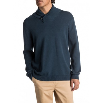 Quiksilver QUIKSILVER WATERMAN WARM WINDS-SHAWL-NECK JUMPER FOR MEN-BLUE